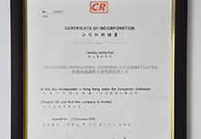 港盛香港公司证书